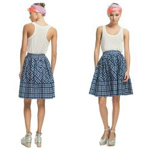Marc by Marc Jacobs | Blue Belle Star Plaid Skirt